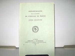 Annuaire-Bulletin de la Société de l'Histoire de: CAZAUX (Yves) /