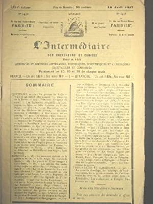 L'Intermédiaire des Chercheurs et Curieux. Fondé en: Première Guerre mondiale