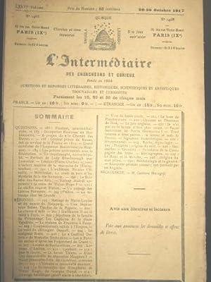 L'Intermédiaire des Chercheurs et Curieux. Fondé en: MARIE-LOUISE / NEIPPERG