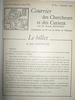 Courrier des Chercheurs et des Curieux, créé: Madelon de la