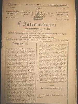 L'Intermédiaire des Chercheurs et Curieux. Fondé en: Prusse / Traités