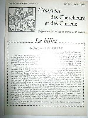 Courrier des Chercheurs et des Curieux. (Supplément: LA VIEUVILLE (Charles