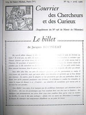 Courrier des Chercheurs et des Curieux. (Supplément: AUGEREAU (Thérèse-Caroline) /