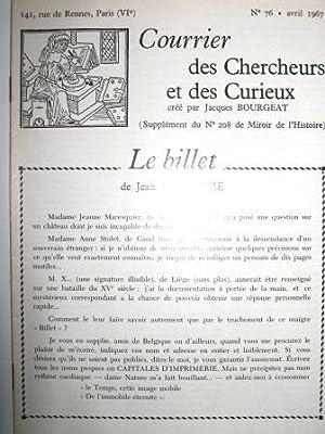 Courrier des Chercheurs et des Curieux, créé: SAISSEVAL (Claude-Jean-Baptiste de)