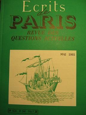 Ecrits de Paris. Revue des questions actuelles.: BEREGOVOY (Pierre) /