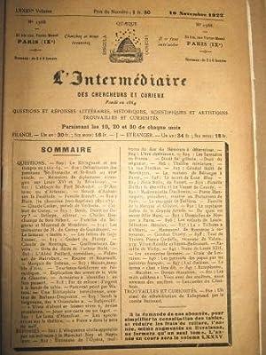 L'Intermédiaire des Chercheurs et Curieux. Fondé en: NEMOURS (Duc de)