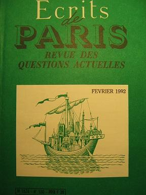 Ecrits de Paris. Revue des questions actuelles.: Cohabitation / VERSAIS