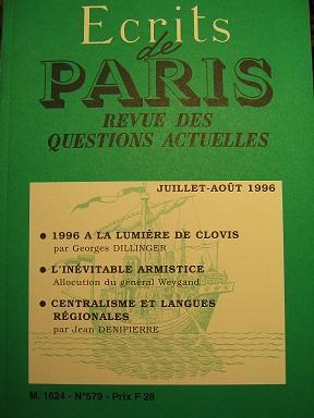 Ecrits de Paris. Revue des questions actuelles.: DUVERNEUIL (Gaston) /