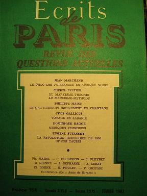 Ecrits de Paris. Revue des questions actuelles.: Sibérie / Gaz
