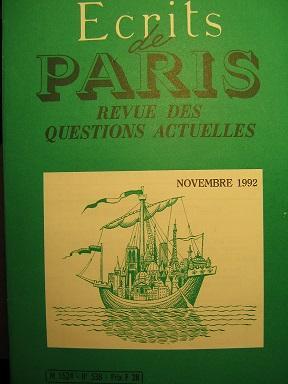Ecrits de Paris. Revue des questions actuelles.: Nationalisme / DENIPIERRE