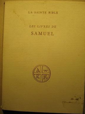 Les Livres de Samuel. Traduits par R.: SAMUEL / VAUX
