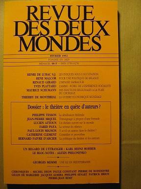 Revue des Deux Mondes. Fondée en 1829.: Théâtre / Auteurs