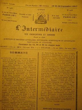 L'Intermédiaire des Chercheurs et Curieux. Fondé en: Traités / Prusse
