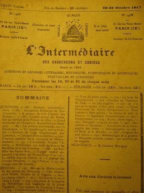 L'Intermédiaire des Chercheurs et Curieux. Fondé en: NEIPPERG (comte de)