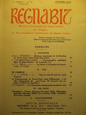 REGNABIT. Revue universelle du Sacré-Coeur et Organe: Sacré-Coeur / Dévotion