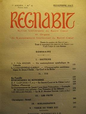REGNABIT. Revue universelle du Sacré-Coeur et Organe: ANIZAN (Félix) /