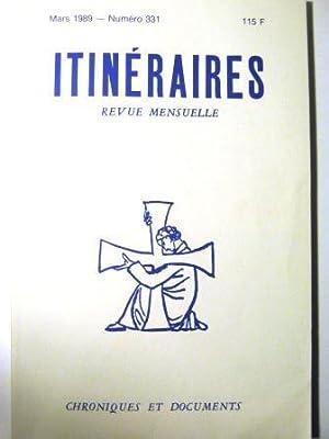 Itinéraires. Chroniques et Documents. Revue mensuelle. N°331.: Blignières (Hervé de)