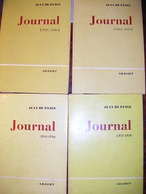 Journal. Tome I : (1927-1930). Tome II: PANGE (Jean de).