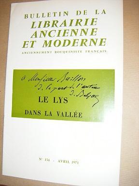 BULLETIN DE LA LIBRAIRIE ANCIENNE ET MODERNE.: BALZAC (Honoré de)