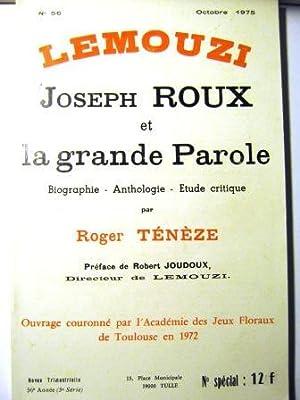 Lemouzi. Revue trimestrielle 56e année (5e série).: Roux (Joseph) /