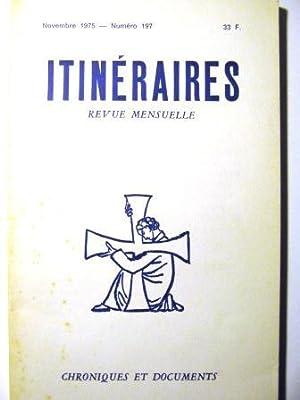 Itinéraires. Chroniques et Documents. Revue mensuelle. N°197.: Barrère (Jean-Bertrand) /
