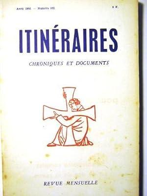 Itinéraires. Chroniques et Documents. Revue mensuelle. N°102.: CHARLIER (Henri) /
