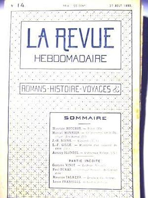 La Revue Hebdomadaire. (Romans, Histoire, Voyages; etc.).: Bouchor (Maurice) /