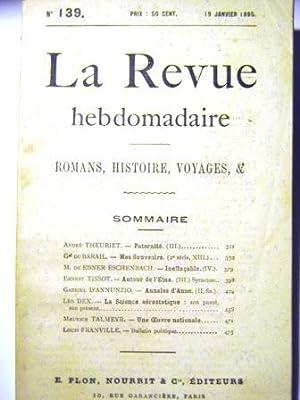 La Revue Hebdomadaire. (Romans, Histoire, Voyages, etc.).: Theuriet (André) /
