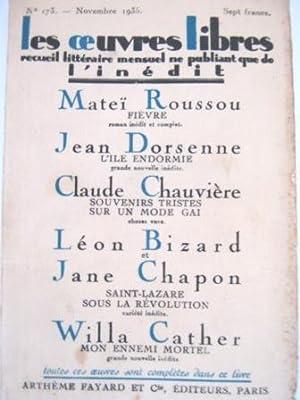 Les Oeuvres Libres. Recueil littéraire mensuel ne: ROUSSOU (Mateï) /
