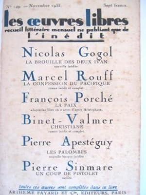 Les Oeuvres Libres. Recueil littéraire mensuel ne: GOGOL (Nicolas) /