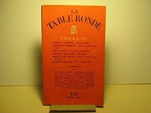 La Table Ronde. Revue mensuelle. N° 54.: Laurent (Jacques) /