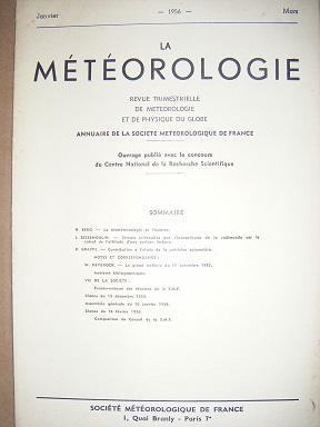 La Météorologie. Revue trimestrielle de météorologie et: Berg (H.) /