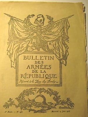 Bulletin des Armées de la République réservé: Première Guerre mondiale