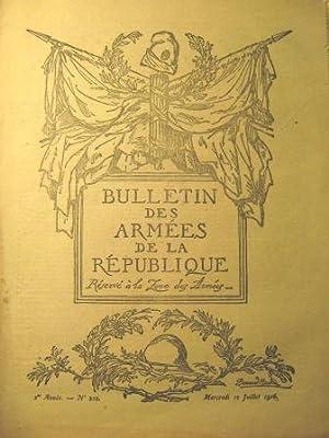 Bulletin des Armées de la République. Réservé: Première Guerre mondiale
