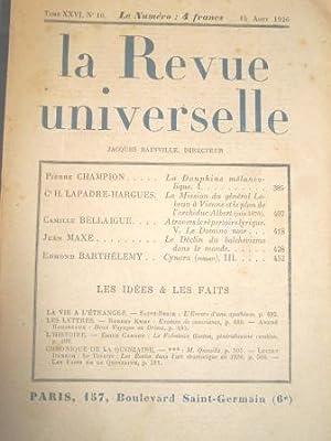 La Revue Universelle. (Tome XXVI, n° 10).: Marguerite d'Ecosse /