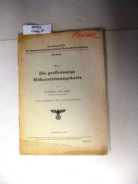 Die großräumige Höhenströmungskarte.: G. Schinze und