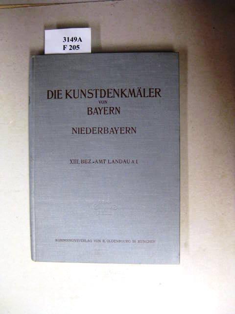 Die Kunstdenkmäler von Niederbayern.: Anton Eckardt.: