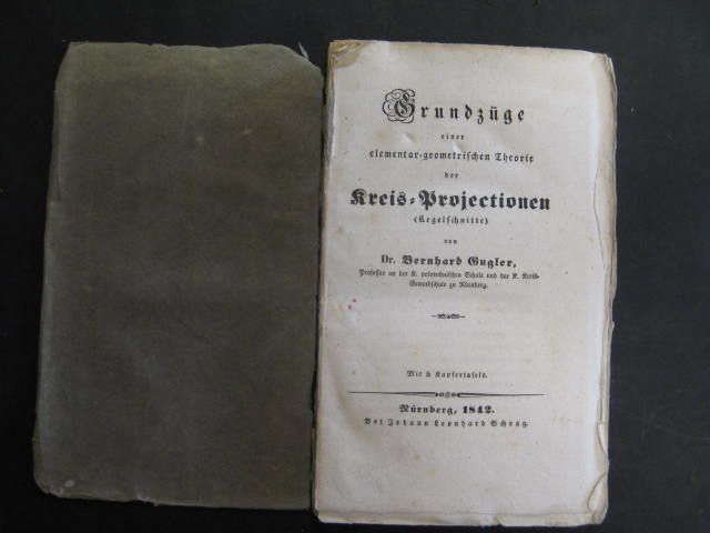 Grundzüge einer elementar-geometrischen Theorie der Kreis-Projectionen (Kegelschnitte).: Gugler, Bernhard Dr.: