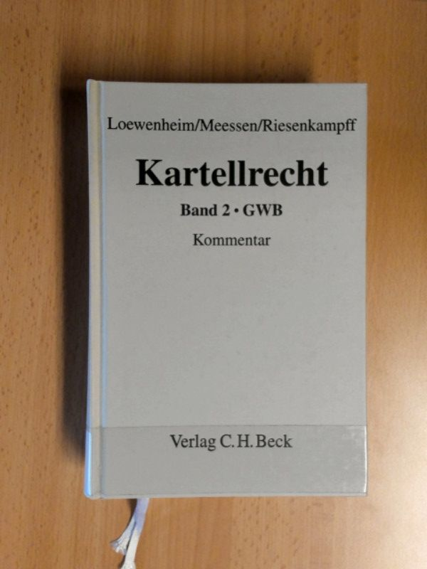 Kartellrecht. Bd. 2: GWB Kommentar.: Loewenheim, Ulrich, Karl