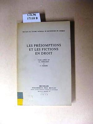 Les Présomptions et les Fictions en Droit.: Perelman, Ch. &