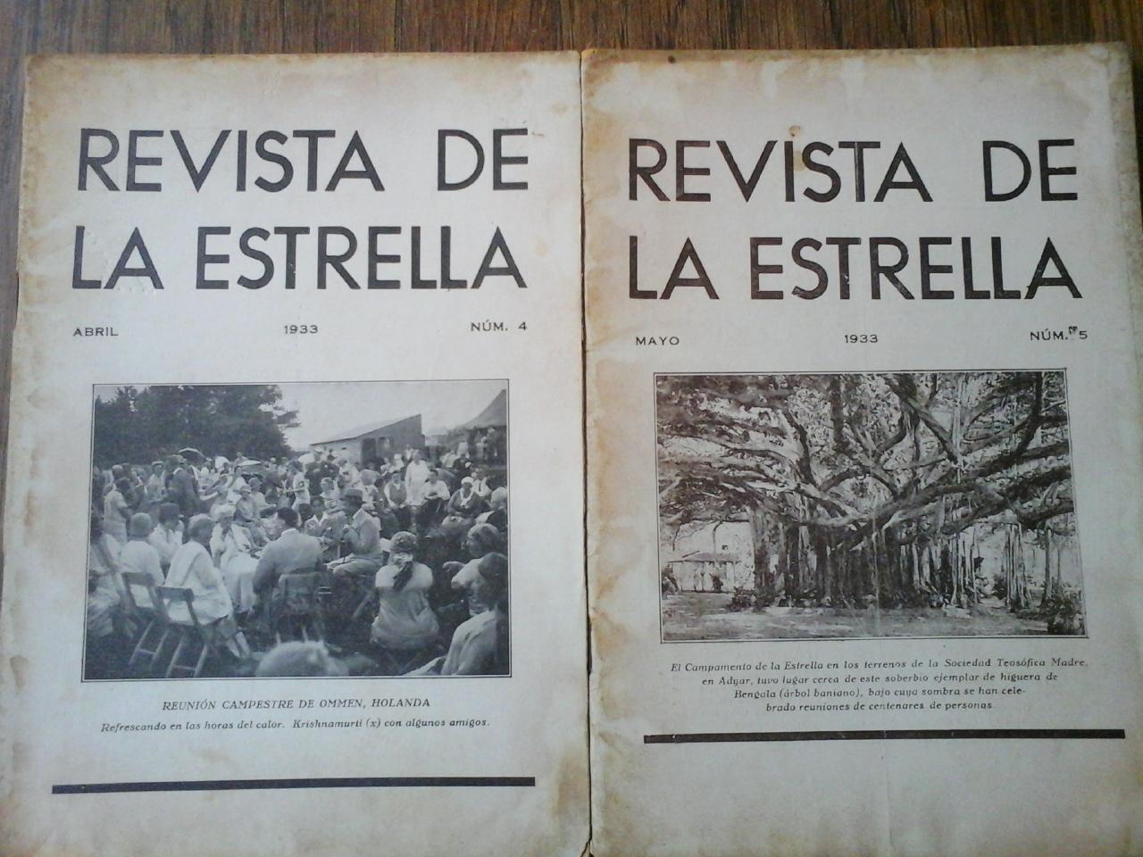 REVISTA DE LA ESTRELLA N° 5 . MAYO 1933. Rovira, Francisco (Director)