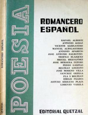 ROMANCERO ESPAÑOL Poesías 1936-1939. 1st. ed.: Rafael Alberti, Antonio