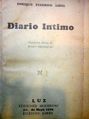 DIARIO INTIMO.: AMIEL, Henri-Frederic.