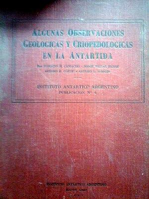 ALGUNAS OBSERVACIONES GEOLÓGICAS Y CRIOPEDOLÓGICAS EN LA: Camacho, Horacio H.