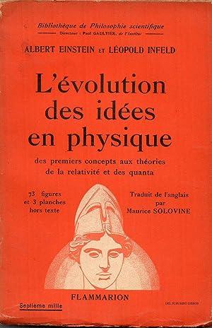 L'évolution des idées en physique. Des premiers: EINSTEIN Albert et