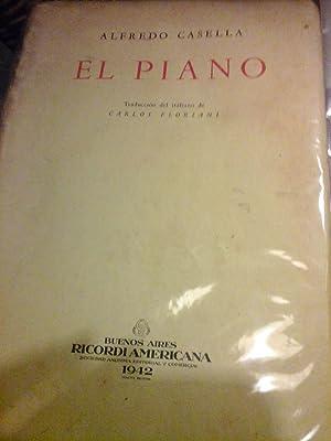 EL PIANO. Trad. Carlos Floriani: CASELLA ALFREDO
