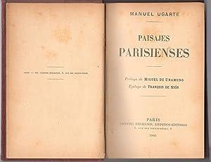 PAISAJES PARISIENSES.PRÓLOGO DE MIGUEL DE UNAMUNO FECHADO 1901: UGARTE, MANUEL (Argentina, ...