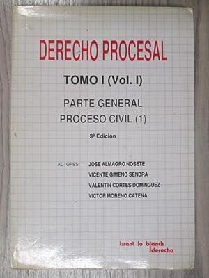 DERECHO PROCESAL. Tomo 1(Vol1 y 2). Parte: JOSE ALMAGRO NOSETE.