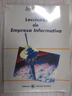 LECCIONES DE EMPRESA INFORMATIVA.: JOSÉ TALLÓN