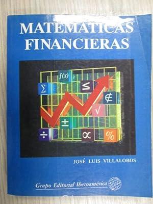 MATEMÁTICAS FINANCIERAS: JOSÉ LUIS VILLALOBOS